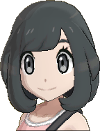 Pokemon Sun Hairstyle Girl Chin Bob Sideswept Black (front)