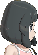 Pokemon Sun Hairstyle Girl Chin Bob Sideswept Black (side)