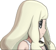 Pokemon Sun Hairstyle Girl Long Wavy Sideswept Platinum Blond (side)