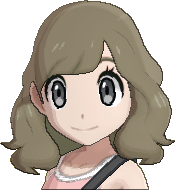 Pokemon Sun Hairstyle Girl Medium Wavy Sideswept Ash Brown (front)