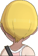 Pokemon Sun Hairstyle Girl Short Bob Straight Honey Blond (back)