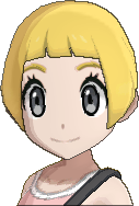 Pokemon Sun Hairstyle Girl Short Bob Straight Honey Blond (front)