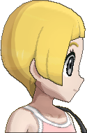 Pokemon Sun Hairstyle Girl Short Bob Straight Honey Blond (side)